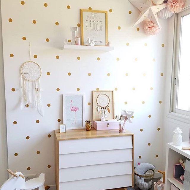 Déco chambre fille rose or | Chambre de bébé ou d\'enfant Idées déco ...