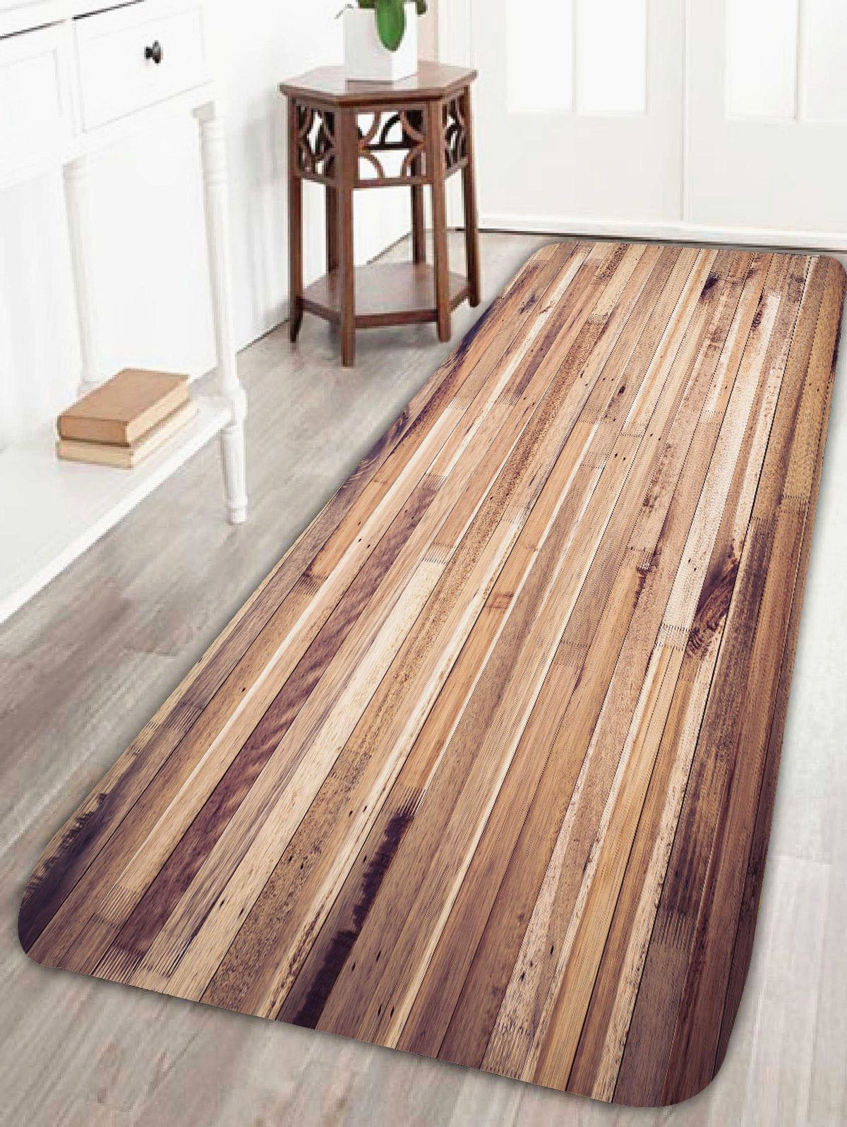 Awe Inspiring Vintage Wood Grain Pattern Antiskid Bath Rug For The Home Beutiful Home Inspiration Semekurdistantinfo