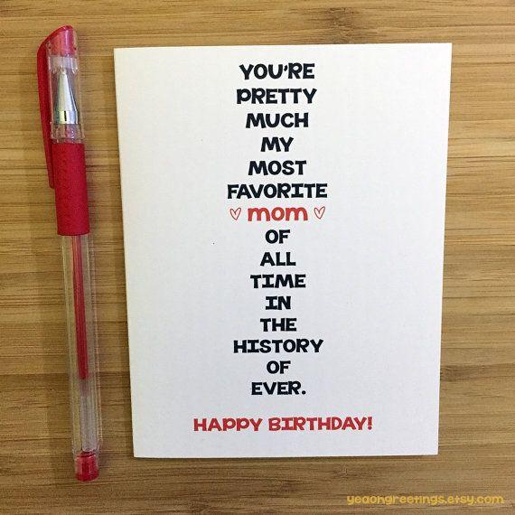 Happy Birthday Mom Card For Mom Funny Mom Card Cute Card Funny Mom Birthday Cards Funny Birthday Cards Birthday Cards For Women
