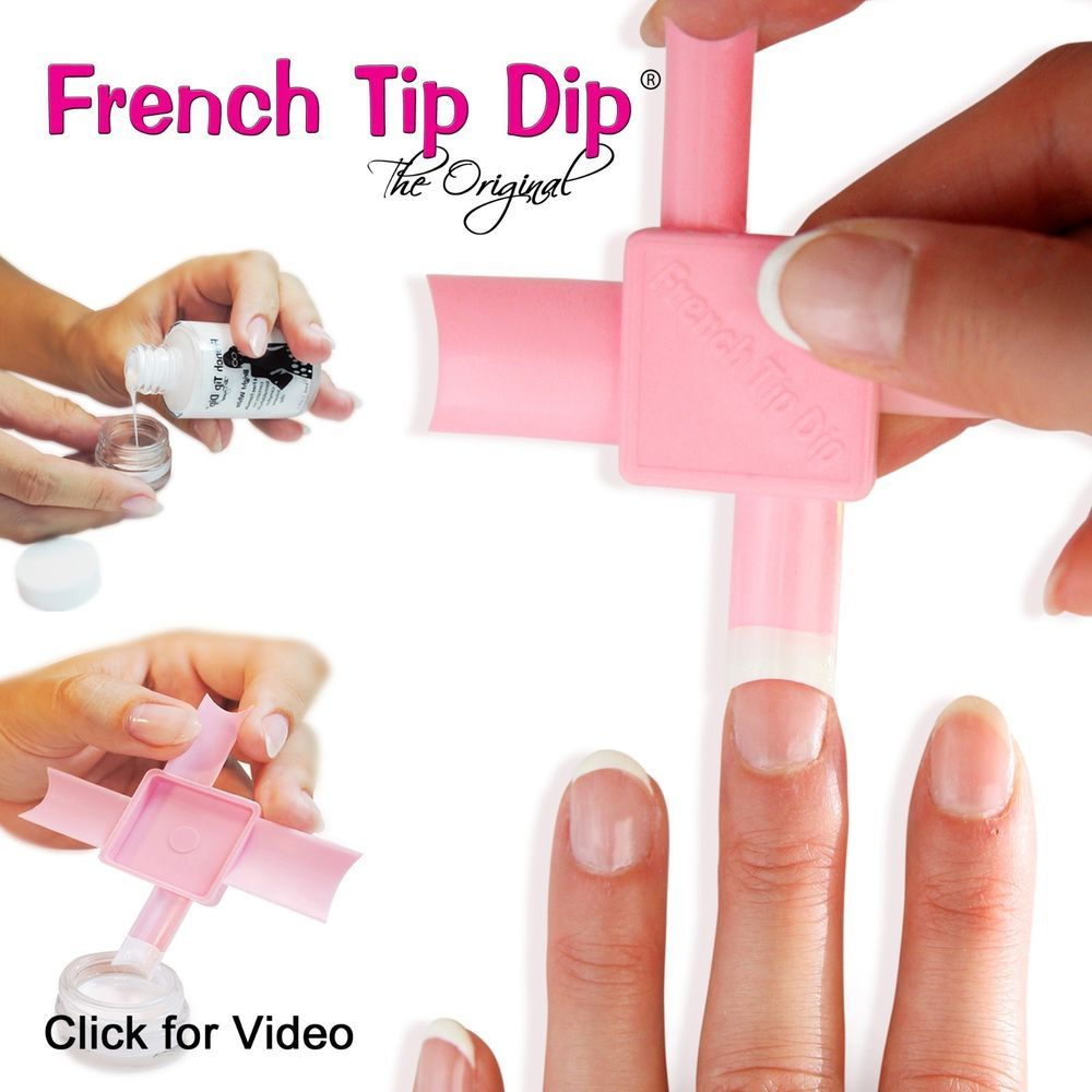 3 French Tip Dip Instant Manicure Kits As Seen On Qvc Hsn Today Show Etc