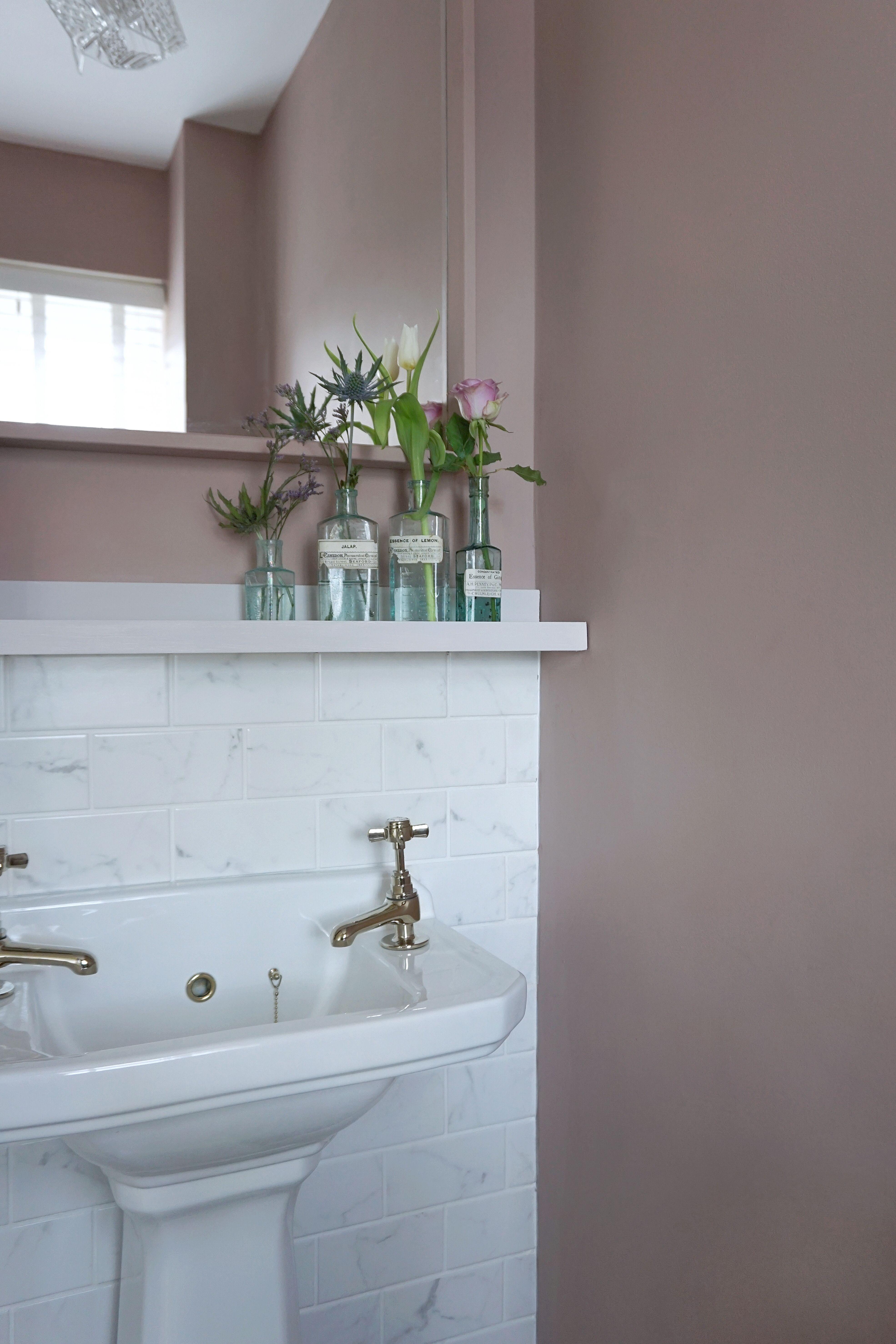 Sulking Room Pink Cloakroom Makeover Pink Bathroom Pink Baths Closet Remodel
