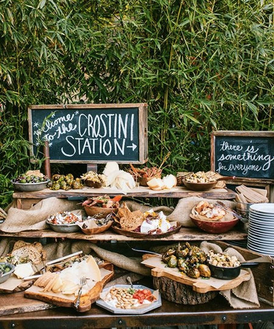 Wedding Reception Buffet Food Ideas: Mini Bars For A Foodie Wedding
