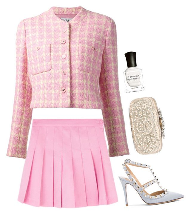 """Cliché"" by milkyashesfallout ❤ liked on Polyvore featuring Chanel, Valentino, Oscar de la Renta and Deborah Lippmann"