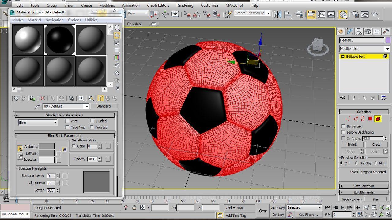 3ds Max Football Model Tutorial 3ds max, Tutorial, Max