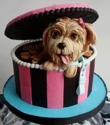 Cake decoration with dog