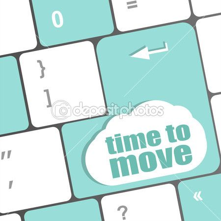 tempo de palavras para mover-se na tecla do teclado — Imagem Stock #40306835