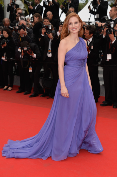 """5/19/14 -Jessica Chastain at the """"Foxcatcher"""" Premiere during the 67th Annual Cannes Film Festival."""