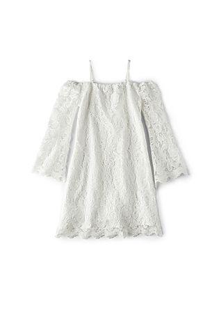 e713c845bf9b Bardot Junior Lace Bell Sleeve Dress in Ivory   REVOLVE   Flower ...