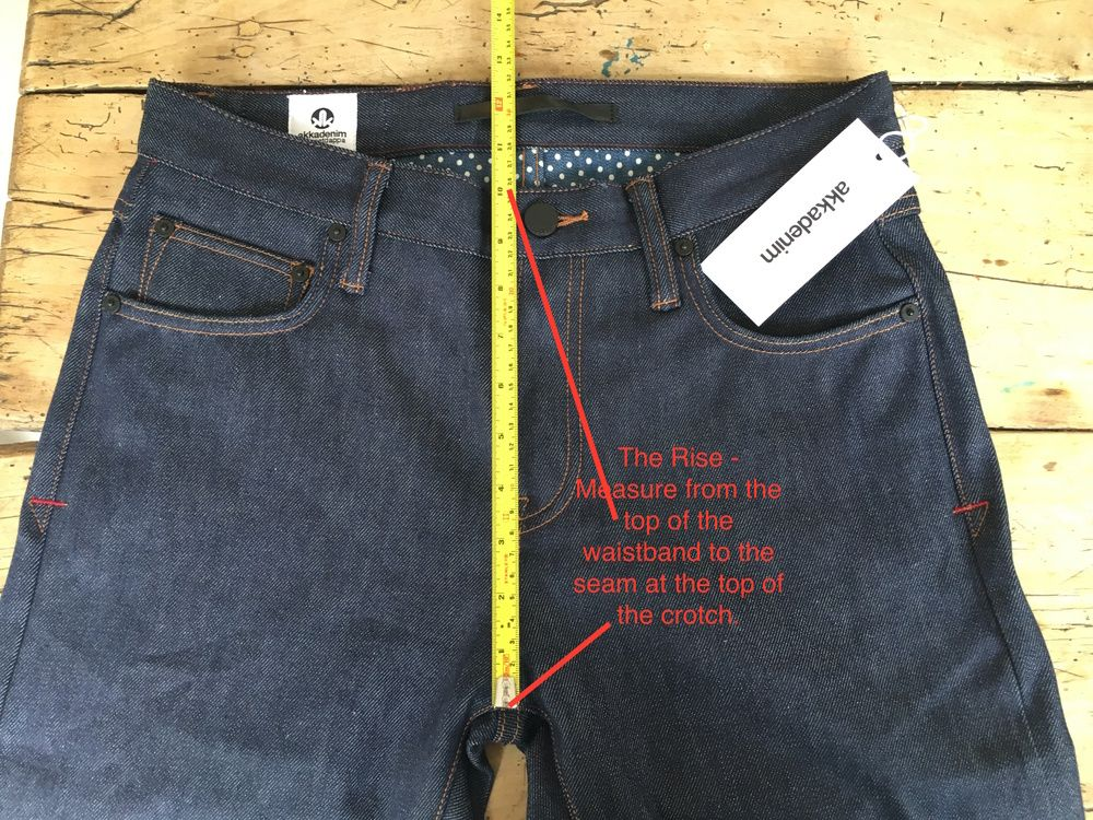 Men's jeans how to measure the front rise (With images