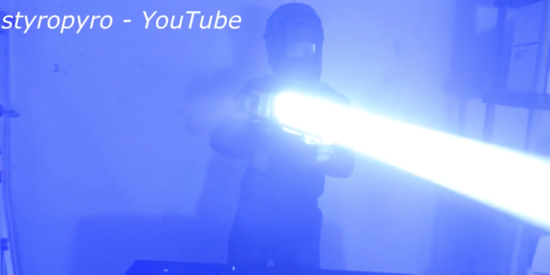 This terrifying DIY laser bazooka can melt through steel