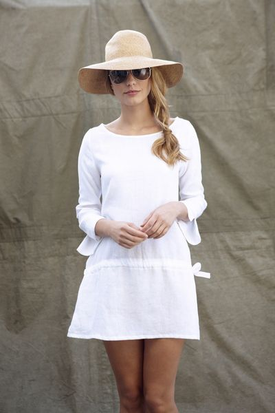 White Irish linen tunic £98  Made in England  Machine Washable