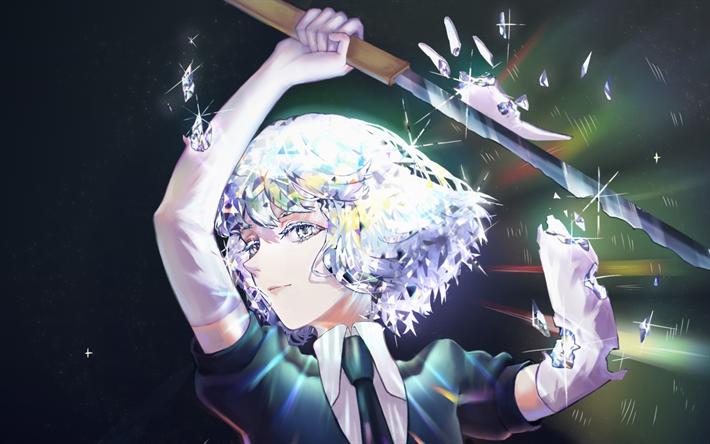 Download Wallpapers Diamond Sword Land Of The Lustrous Manga Houseki No Kuni Besthqwallpapers Com Anime Wallpaper Manga Anime