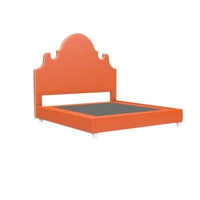 Oomph Charleston Upholstered Platform Bed Color Frame Leg Color