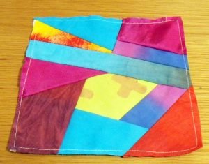 Crazy patchwork square - mixed