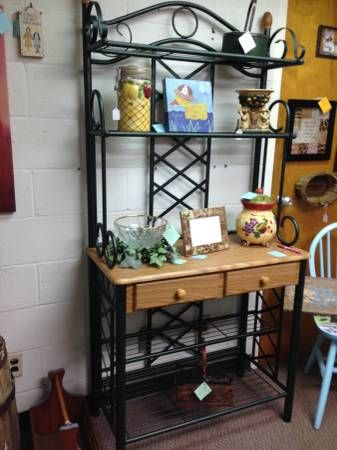 Large Baker S Rack W 5 Shelves And 2 Drawers 89 Bakers Rack