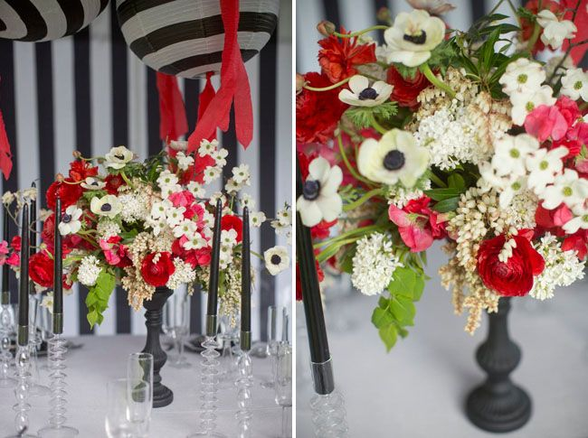 Red & White - Wedding Inspiration from The Night Circus- I don't normally put red and white together but for some reason this works.
