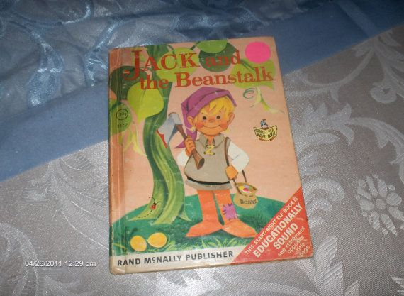 This is a little start-right Elf book, Jack and the Beanstalk a Rand McNally childrens book, retold English fairy tale, illustrated by Anne
