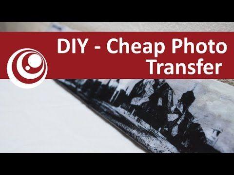 Diy Cheap Photo Transfer On To Wood Using Pva Glue Photo