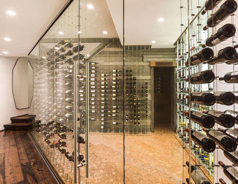 Weinkeller einrichten modern  modern wine cellar cable wine system 29 | wine cellar | Pinterest ...
