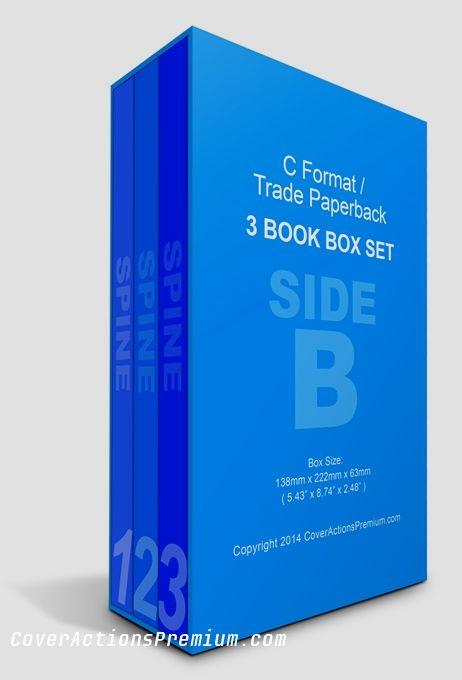Download 3 Book Box Set Mockup C Format Cover Actions Premium Mockup Psd Template Book Box Boxset Books