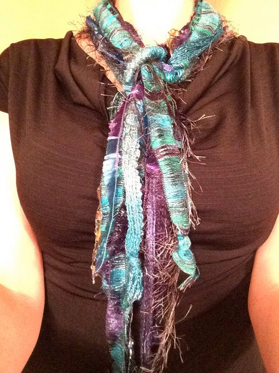 Beautiful y knotted scarf by Yknotscarves on etsy, $20.00.  Love this!