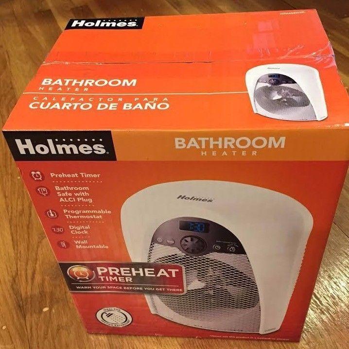 Wondrous Holmes Hfh436Wgl Digital Bathroom Heater Fan With Pre Heat Download Free Architecture Designs Jebrpmadebymaigaardcom