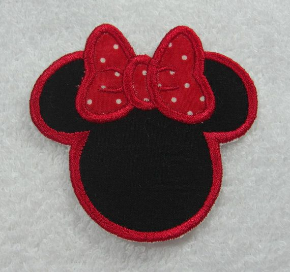 Minnie Mouse Silhouette 3 Inch Fabric By Theappliquepatch