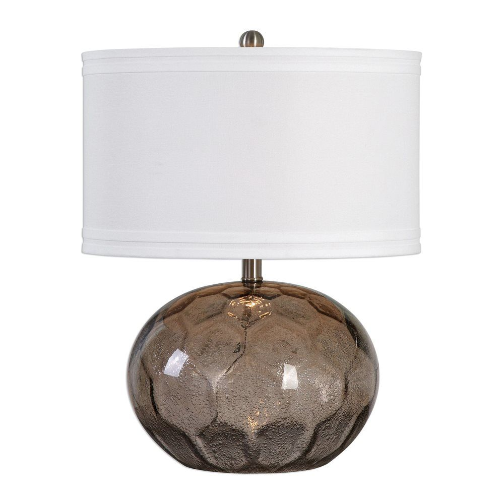 Shop Uttermost 27127 1 Jasperse Amber Glass Lamp At ATG Stores Browse Our Table