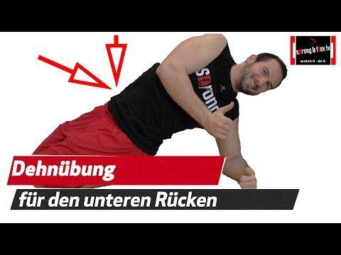 (559) Unteren Rücken dehnen - Rückenschmerzen loswerden..
