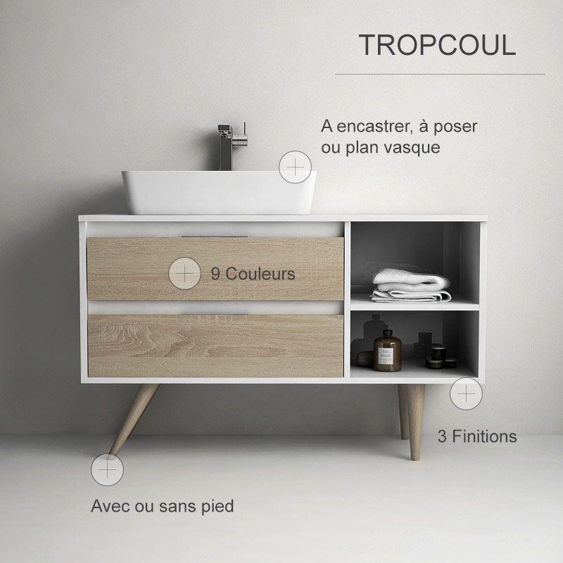TropCoul, Meuble de salle de bain personnalisable Salle de bain - Meuble De Salle De Bain Sans Vasque