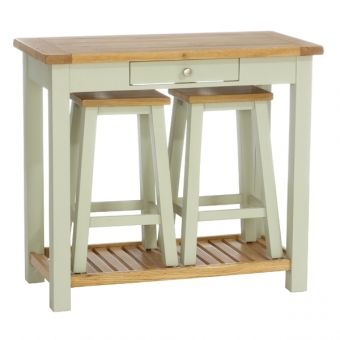 Vancouver Painted Console Table with 2 Stools Vancouver Painted