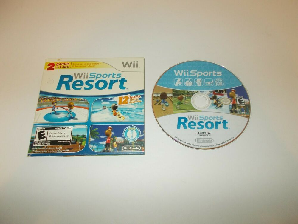Nintendo Wii Sports Wii Sports Resort 2 in 1 Combo Disc in