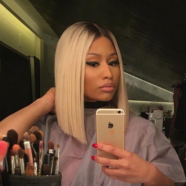 Scene Nicki Minaj S Blunt Blonde Bob Blonde Blunt Bob Hair Styles Hair Life