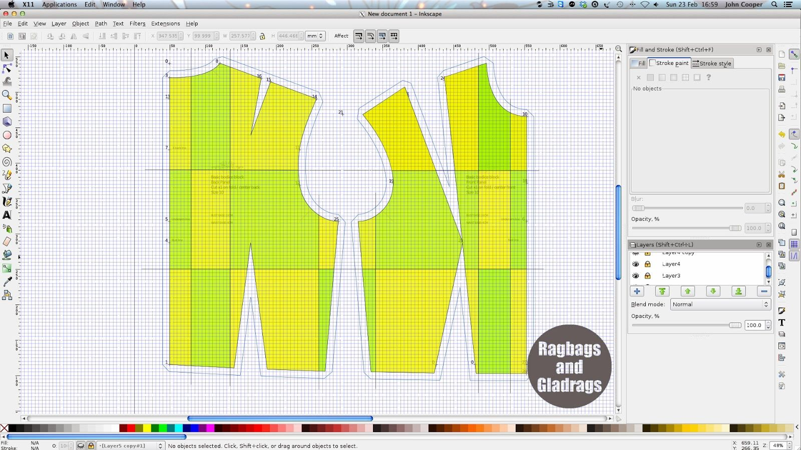 Inkscape Pattern Grading...using opensource to digitise a pattern ...