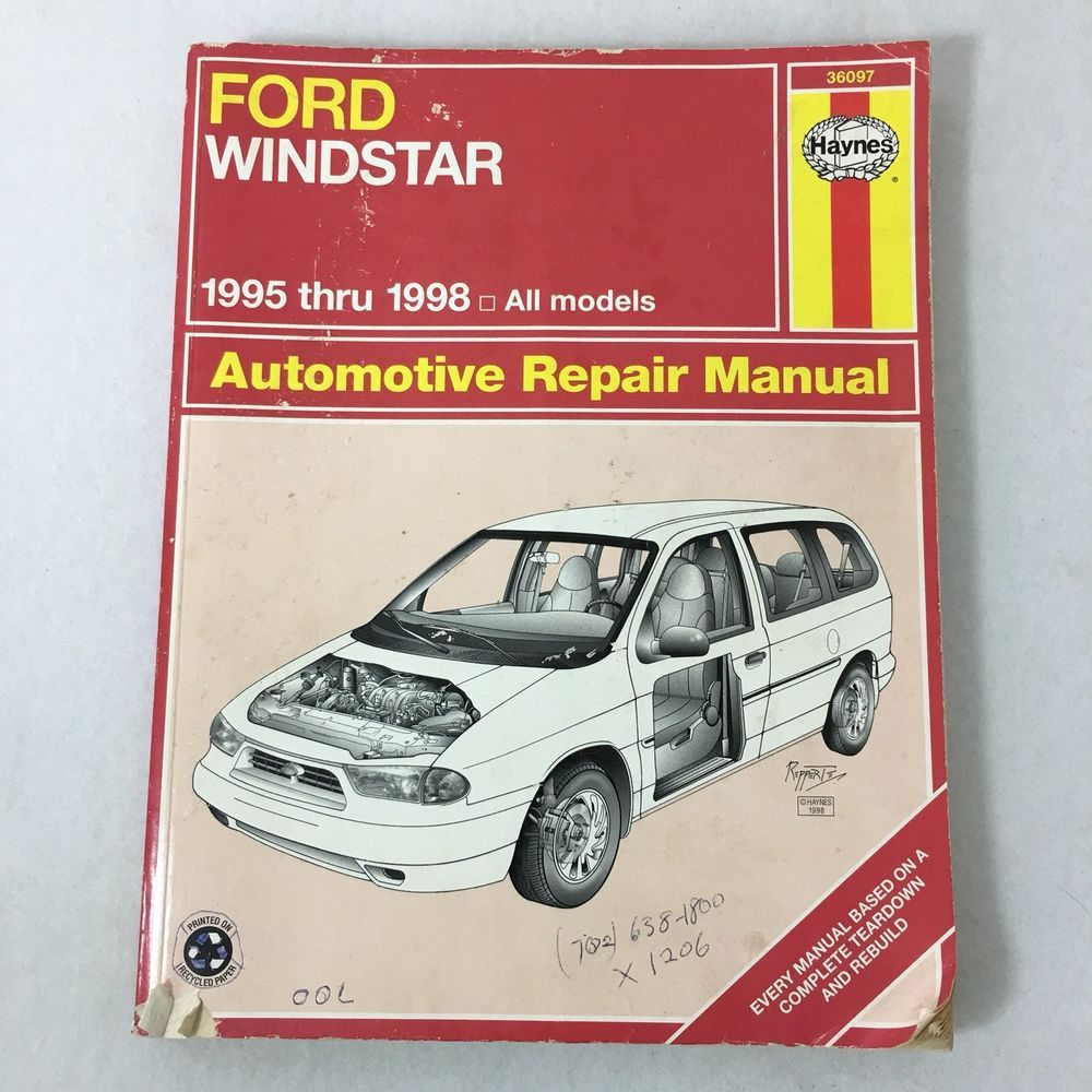 1998 Ford Windstar Van Manual Basic Instruction 1995 Aerostar Fuse Box Haynes Thru Automotive Repair All Rh Pinterest Com Diagram