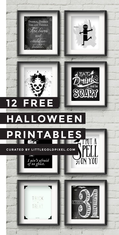 12 Free Halloween Printables | Free halloween printables, Wink wink ...