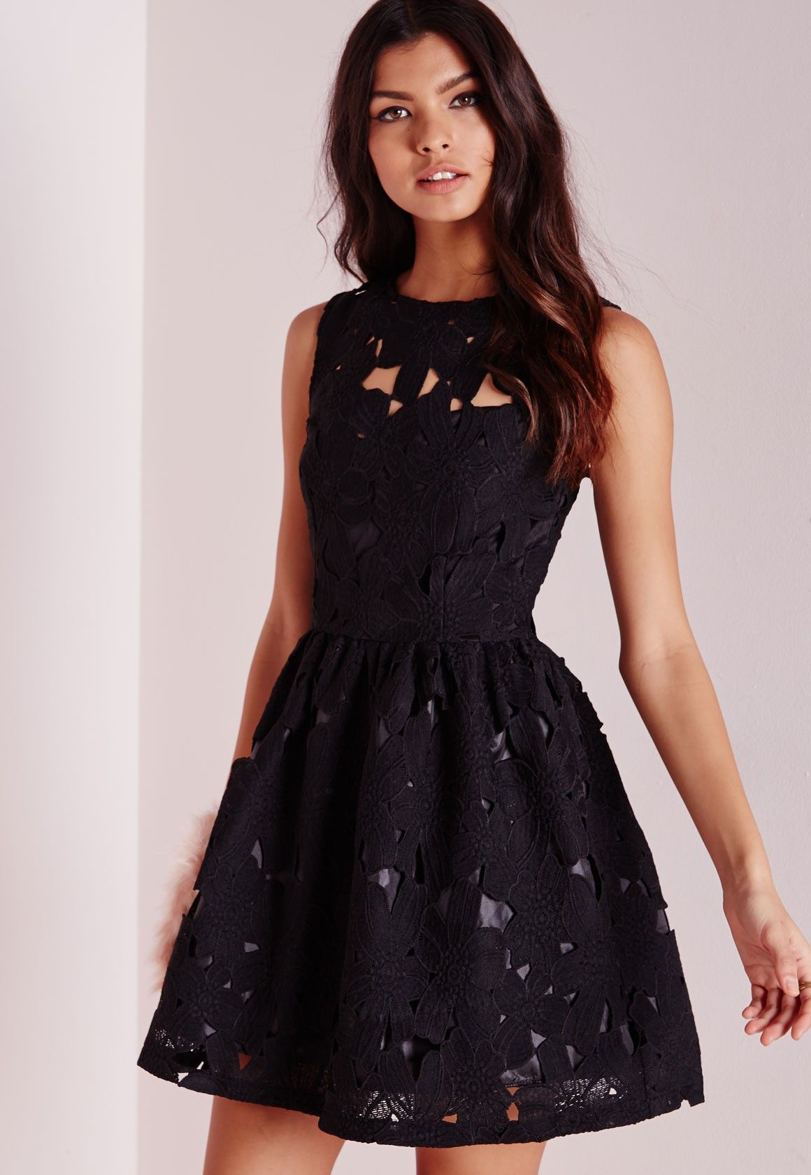 Black dress skater - Black Lace Dress Skater
