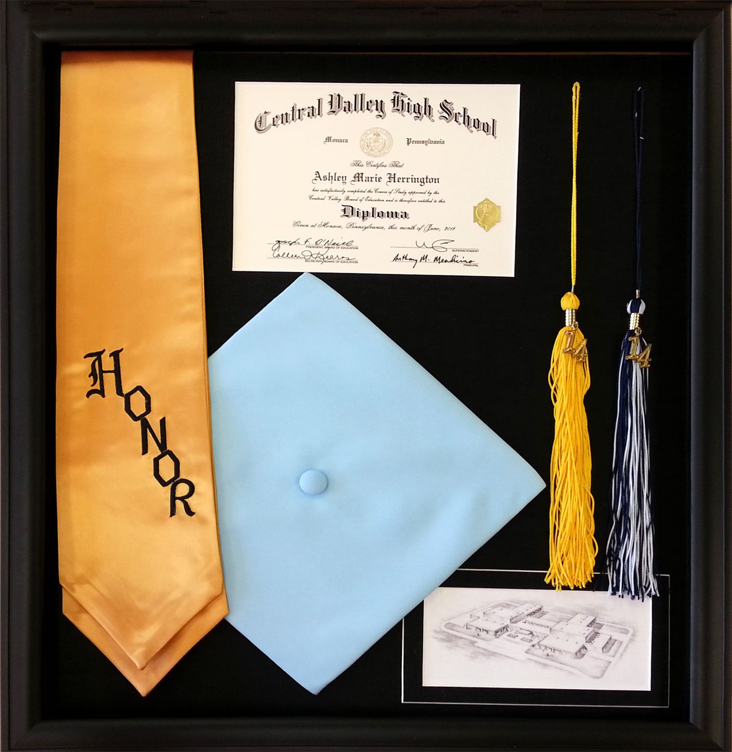 Central Valley High School diploma framed. A great way to preserve ...