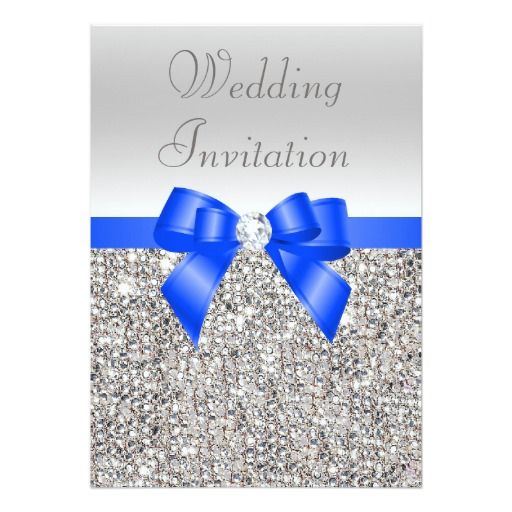 royal blue and silver wedding invitations | wedding design ideas, Wedding invitations