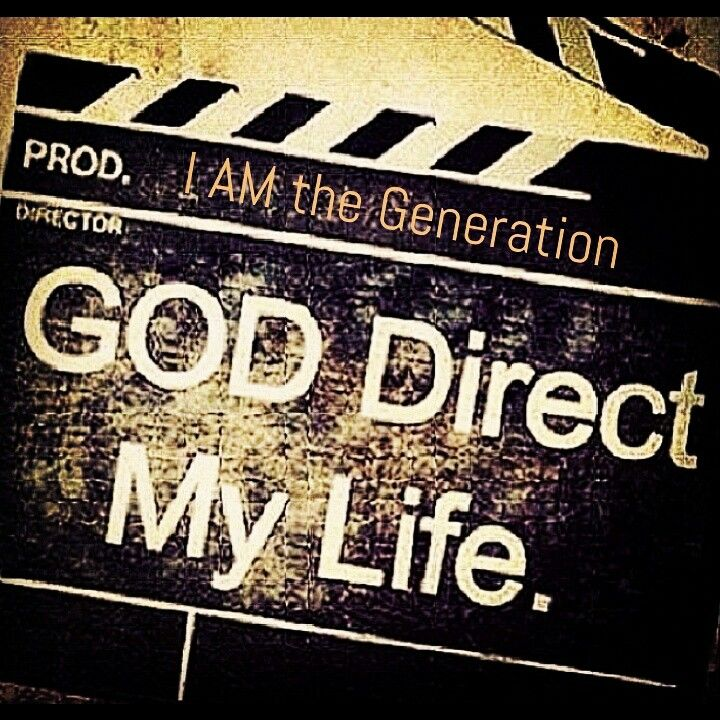 God Direct My Life! Get Out Of The Director's Seat And