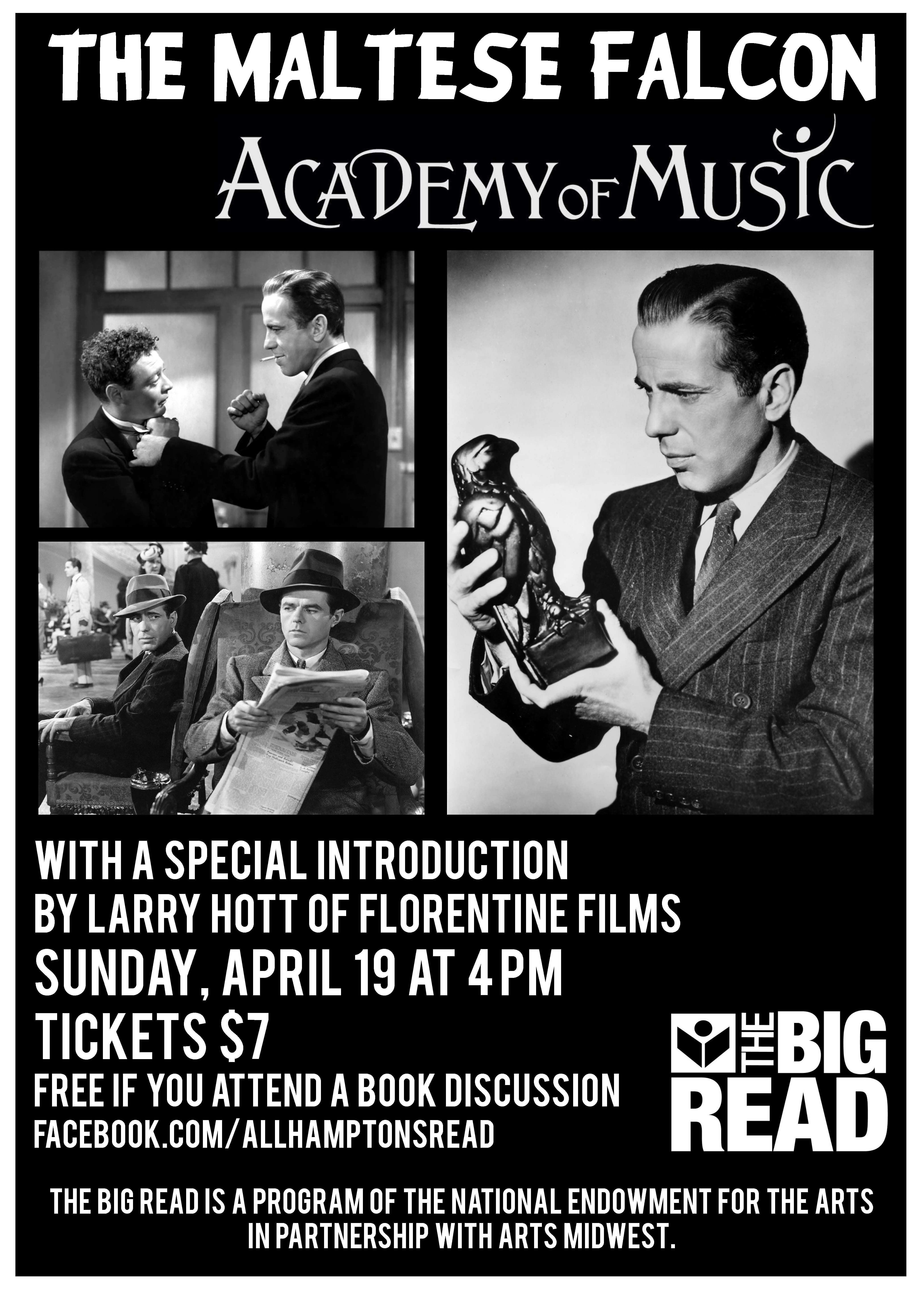 Poster For A Screening Of The Film Version Of The Maltese Falcon Courtesy Of The Public Library Association O Book Discussion The Big Read Library Association