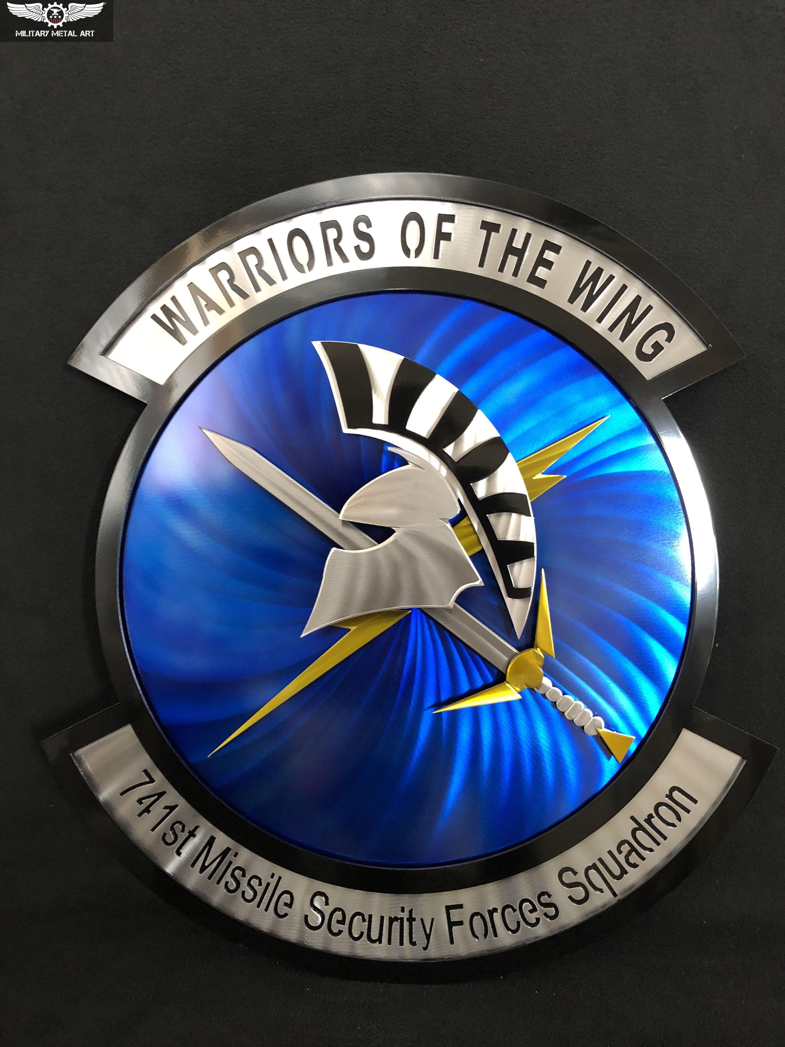 741st Missile Security Forces Squadron Metal Art Military Artwork Logo Design Creative