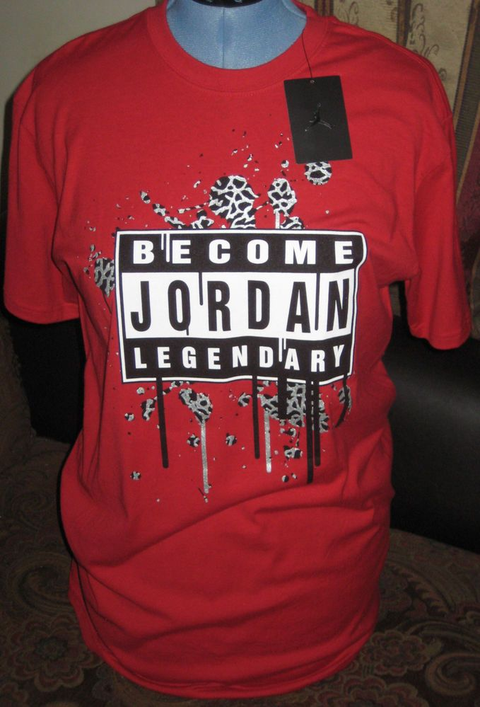 5fe509af284e Michael Jordan Legendary T Shirt Size L Red Short Sleeves New with Tag  Nike   GraphicTee