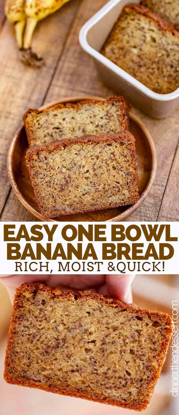 Easy Banana Bread Made With Ripe Bananas And Sour Cream Is The Perfect Combo Of Moist And Fluffy Easy Banana Bread Easy Banana Bread Recipe Sour Cream Recipes