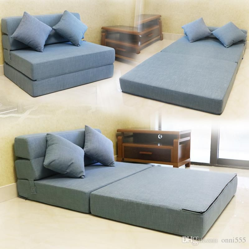 Tri Fold Foam Folding Mattress And Sofa Bed For Guests With Thick 11 Fabric Cover Colors Size 195 150cm Chair Futon Sleeper
