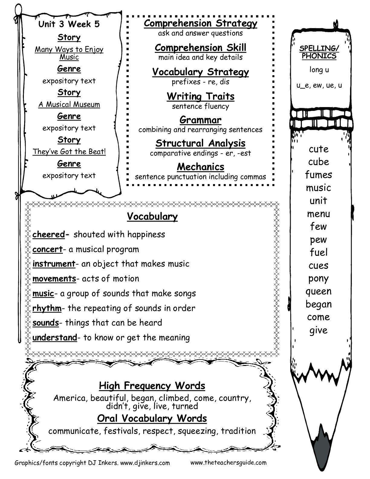 Main Idea Worksheet Second Grade Math Worksheet Prehension