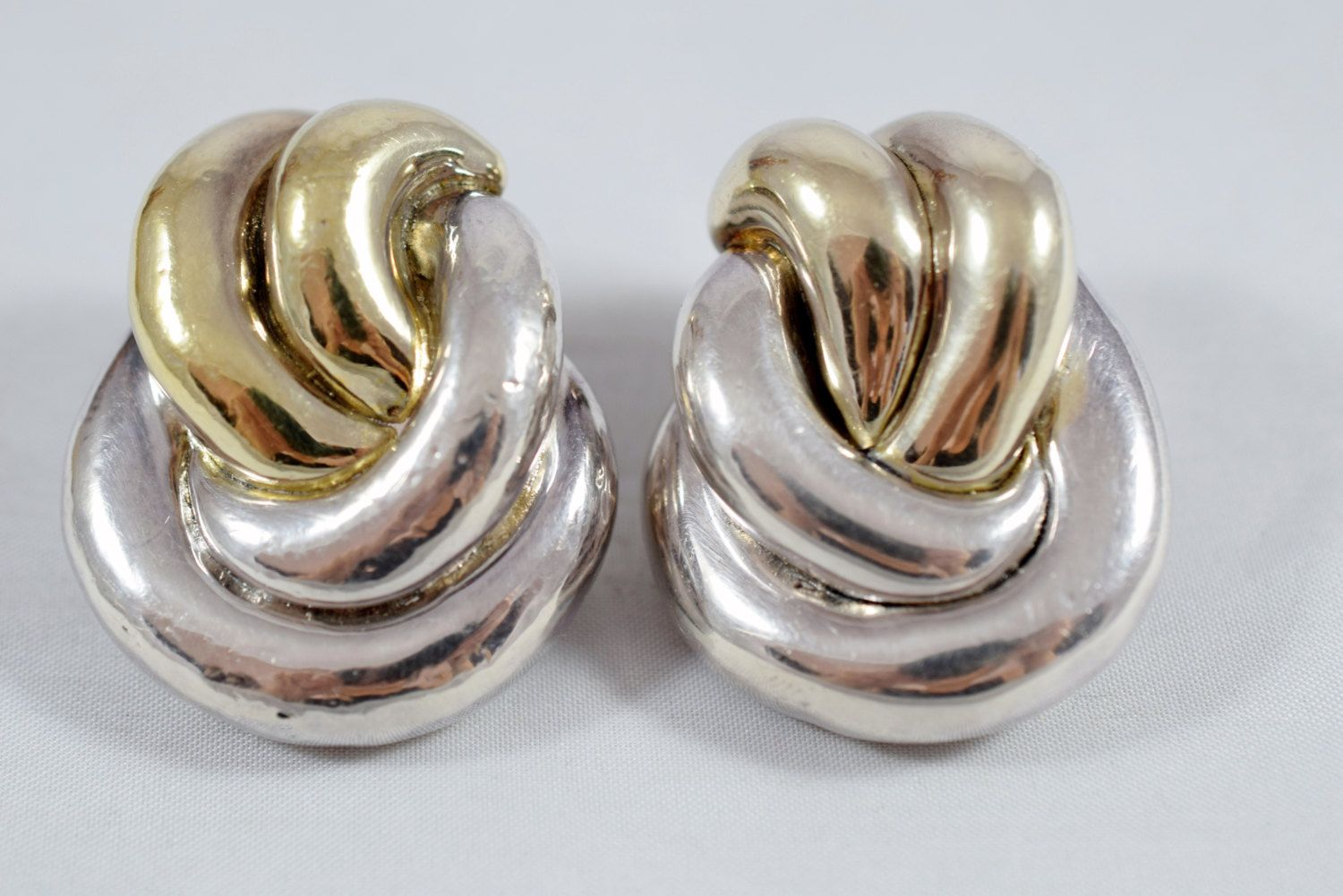 Long ceramic earrings and aged silver metal with silver ties 925