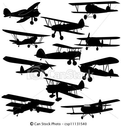 Eps Vector Of Vintage Aircraft The Contours Of Old Aircraft And Csp11131540 Search Clip Art Il Vintage Aircraft Vintage Airplanes Airplane Illustration