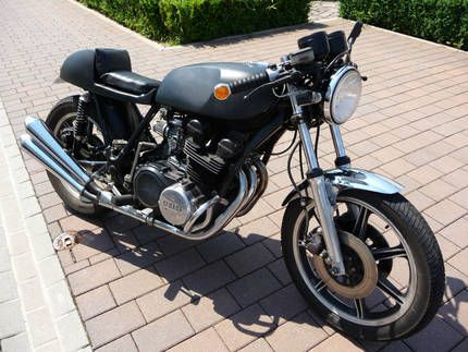 cafe racer yamaha xs 750 3 zylinder old school bike in hessen limburg motorr der teile. Black Bedroom Furniture Sets. Home Design Ideas
