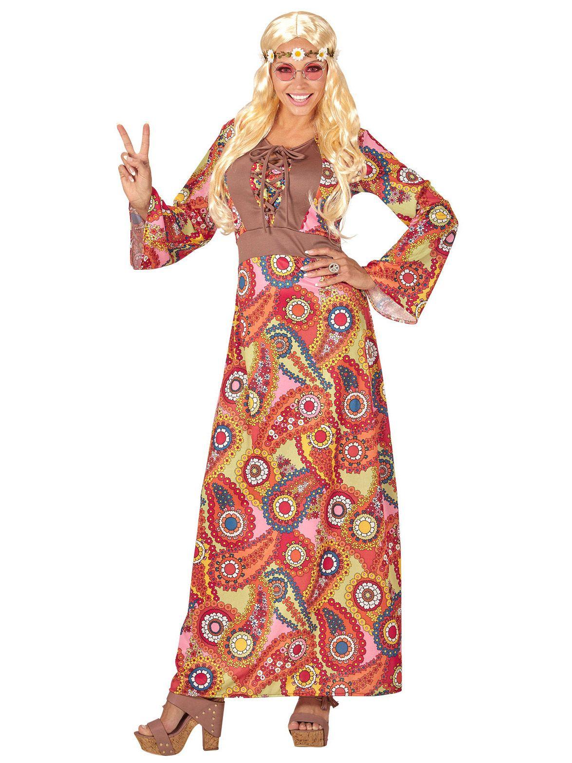 Langes Hippie-Kostüm für Damen in 2020 | 70er jahre kostüm ...
